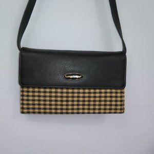 ⭐ Longaberger Plaid Wallet Purse Shoulder Bag